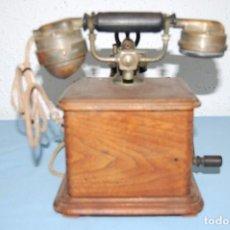 Teléfonos: TELEFONO EN MADERA DE ROBLE. Lote 118101571