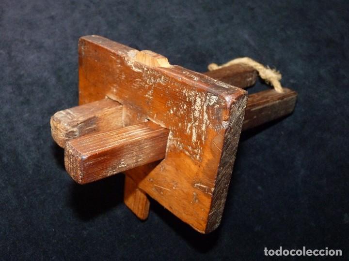 Antigüedades: LOTE DE ANTIGUAS HERRAMIENTAS UTENSILIOS DE MADERA PARA CARPINTERÍA - Foto 3 - 118131779