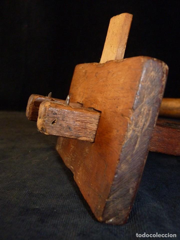 Antigüedades: LOTE DE ANTIGUAS HERRAMIENTAS UTENSILIOS DE MADERA PARA CARPINTERÍA - Foto 6 - 118131779