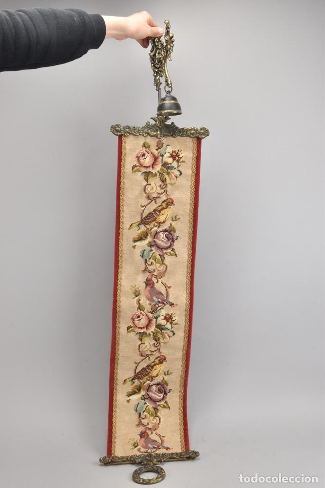 Antigüedades: IMPRESIONANTE Y RARA CAMPANA P.V.P.296 EUROS LLAMADOR DE SALON PALACIO SIGLO XVIII XIX .119x23,5 cm - Foto 4 - 118344455
