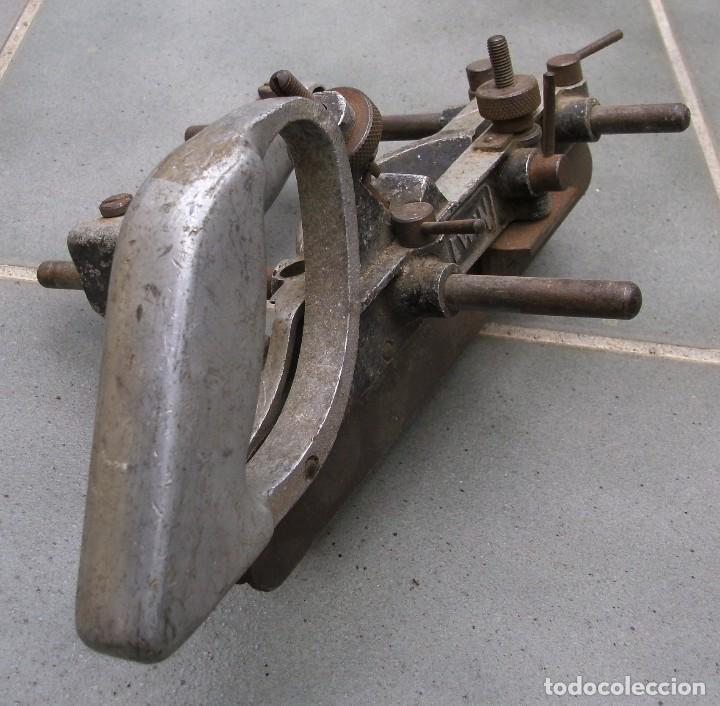 Antigüedades: raro cepillo / acanalador lewin aluminio y acero, con una cuchilla (28x20cm aprox) - Foto 7 - 118346215