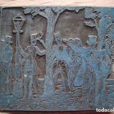 Antigüedades: ANTIGUA PLANCHA PLACA PARA IMPRIMIR.. Lote 118355759