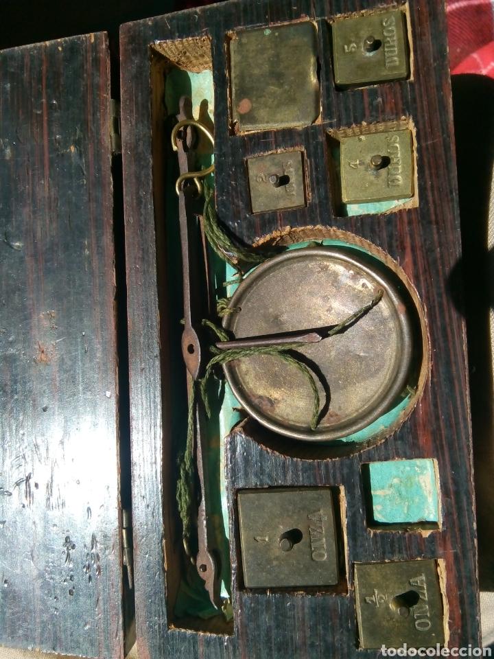 Antigüedades: Antigua Balanza Pequeña - Foto 4 - 117346363