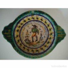 Antigüedades: ANTIGUO CUENCO DE AFEITAR DE CERÁMICA 16 X 12 X 5 INSCRIPCIÓN ECP. Lote 118492579