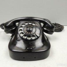 Teléfonos: ANTIGUO TELÉFONO DE BAQUELITA NEGRO AÑOS 60 VINTAGE AUTENTICO PIEZA DE COLECCIÓN . Lote 118503883