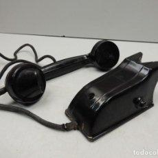 Teléfonos: INTERFONO DE PARED NEGRO MARCA - BAQUELITA AÑOS 50 EXCELENTE PIEZA DE DECORACIÓN. Lote 118504063
