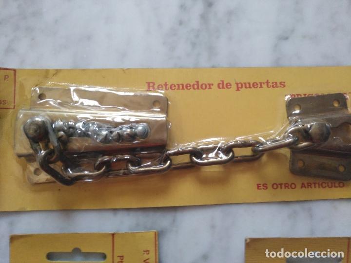 Antigüedades: LOTE DE 3 RETENEDORES DE PUERTAS. NUEVOS. - Foto 4 - 118549487
