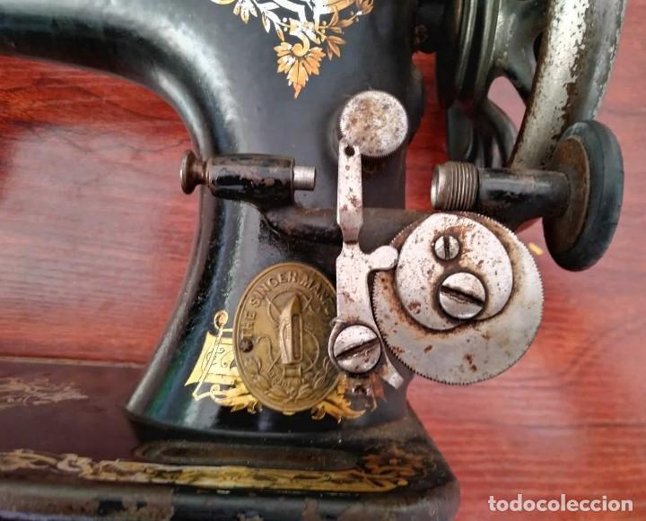 Antigüedades: Antigua cabeza de maquina de coser Singer para decoración o piezas (ver fotos) - Foto 5 - 118588563