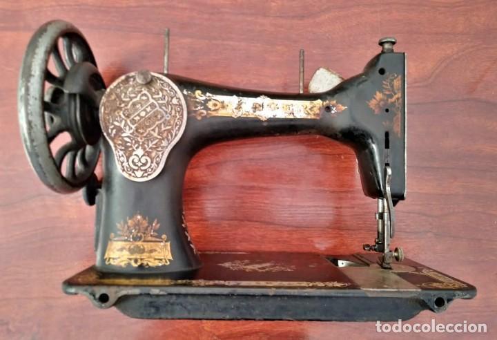 Antigüedades: Antigua cabeza de maquina de coser Singer para decoración o piezas (ver fotos) - Foto 9 - 118588563