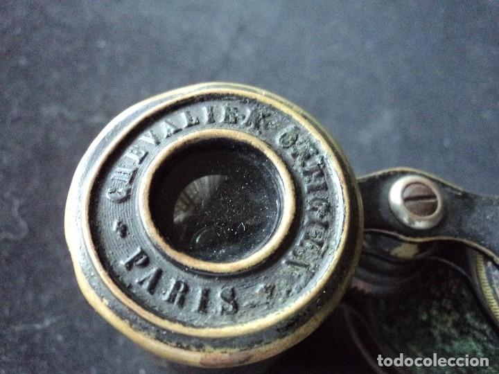Antigüedades: ANTIGUO BINOCULAR CHEVALIER OPTICIEN jumelle militaire modelle 1907 - Foto 4 - 118606419