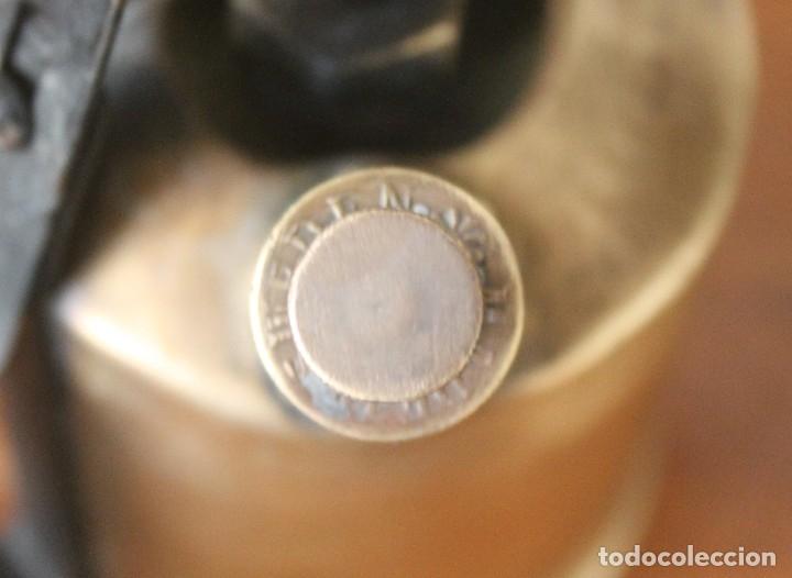 Antigüedades: ANTIGUO SOLDADOR SOPLETE PISTOLA SOLDAR DE PARAFINA BRONCE MADE SWEDEN SUIZA - PIEZA COLECCIONISTAS - Foto 6 - 40771381