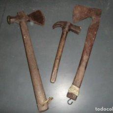 Antigüedades: HACHAS Y MARTILLO DE MINA ANTIGUOS,(MINA ASTURIANA). Lote 118704583