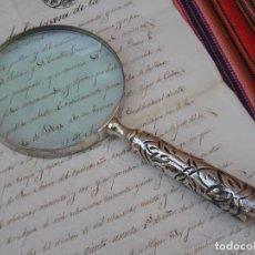 Antigüedades: LUPA GRANDE CON MANGO METALICO.. Lote 118747147