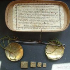 Antigüedades: BALANZAS DE PESAR MONEDAS DE BALTASAR FARRIOLS PLAÇA DEL OLI AÑO 1830. Lote 118811207