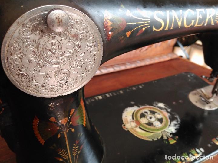Antigüedades: Antigua maquina de coser Singer - Foto 2 - 118849131