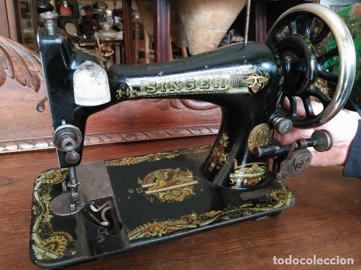ANTIGUA MAQUINA DE COSER SINGER (Antigüedades - Técnicas - Máquinas de Coser Antiguas - Singer)