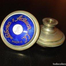 Antigüedades: PAREJA DE ANTIGUOS TIRADORES DE BRONCE ESMALTADOS DE LABORA Y ADSUAR S.L. MADRID.. Lote 118873035