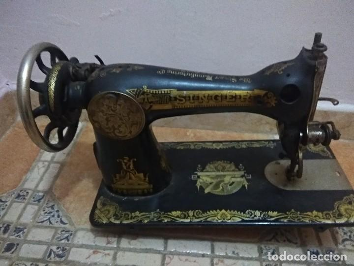 PRECIOSA MÁQUINA DE COSER ANTIGUA (Antigüedades - Técnicas - Máquinas de Coser Antiguas - Singer)