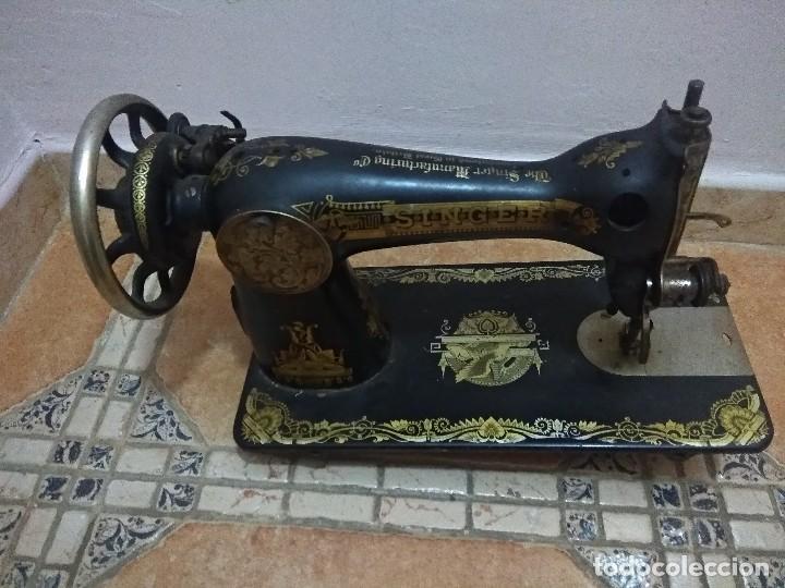 Antigüedades: Preciosa máquina de coser antigua - Foto 2 - 118902499