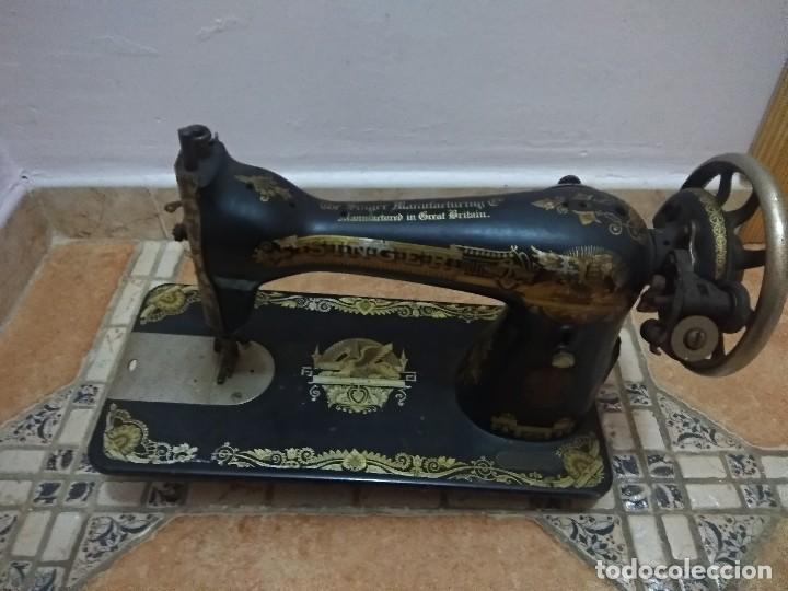 Antigüedades: Preciosa máquina de coser antigua - Foto 3 - 118902499