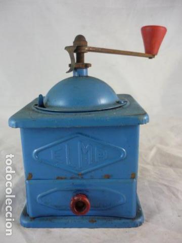 Antigüedades: Molinillo Cafe Elma Azul Metal - Foto 2 - 118929707