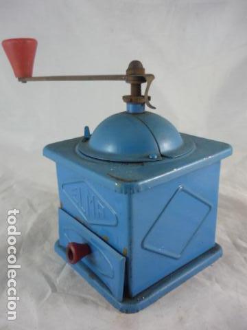 Antigüedades: Molinillo Cafe Elma Azul Metal - Foto 4 - 118929707