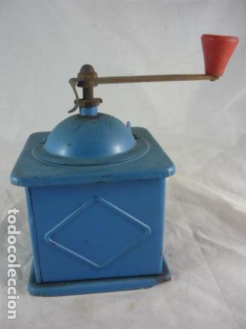 Antigüedades: Molinillo Cafe Elma Azul Metal - Foto 5 - 118929707