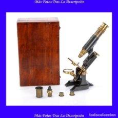 Antigüedades - Antiguo Microscopio Compuesto Inglés. Inglaterra, Circa 1880 - 119005279