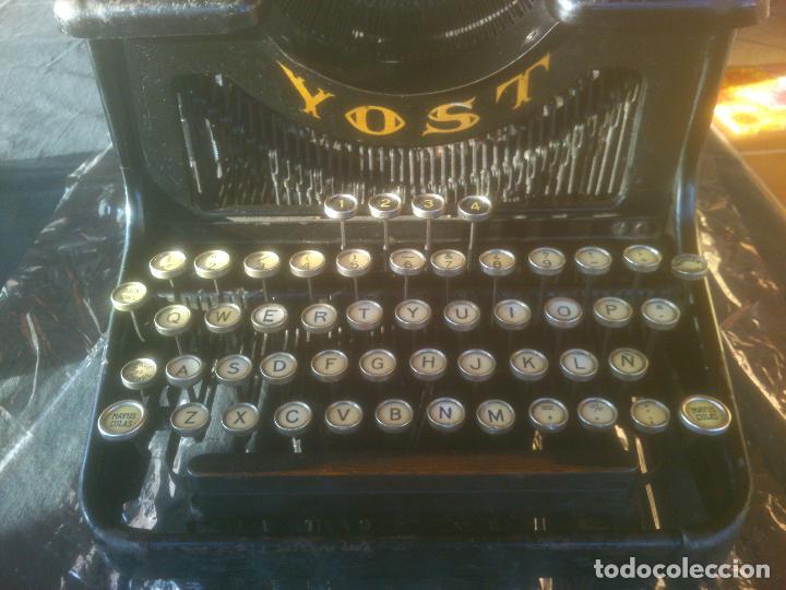 Antigüedades: Antigua maquina de escribir YOST - Foto 2 - 119053359