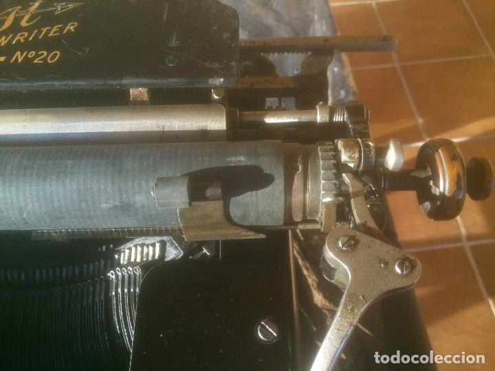 Antigüedades: Antigua maquina de escribir YOST - Foto 5 - 119053359