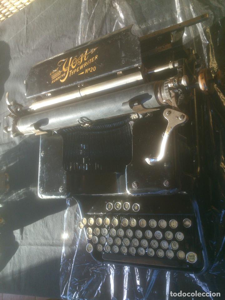 Antigüedades: Antigua maquina de escribir YOST - Foto 7 - 119053359