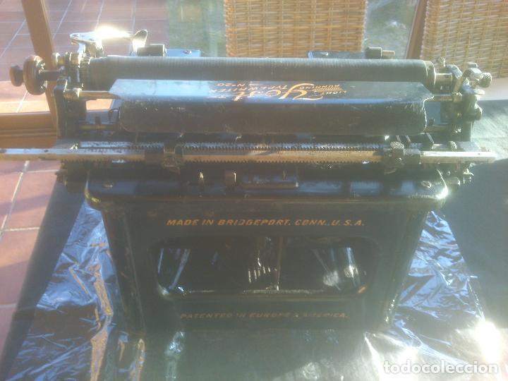 Antigüedades: Antigua maquina de escribir YOST - Foto 8 - 119053359