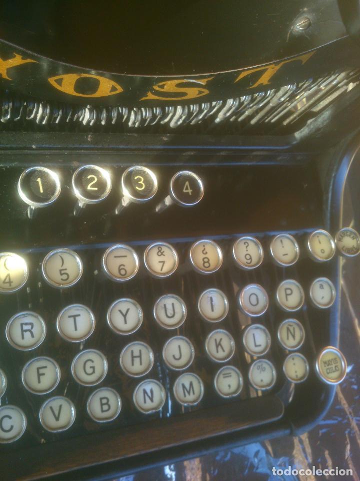 Antigüedades: Antigua maquina de escribir YOST - Foto 13 - 119053359