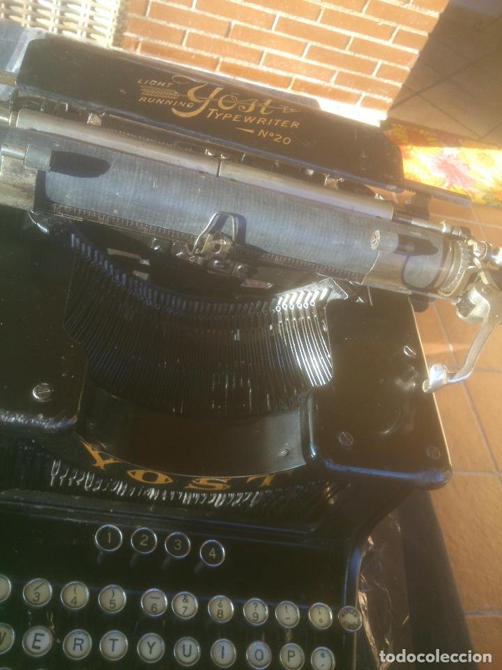 Antigüedades: Antigua maquina de escribir YOST - Foto 14 - 119053359