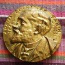 Antigüedades: ARANA GOIRITAR SABIN 1865-1965 SABINO ARANA GOIRI ANTIGUA PLACA EN BRONCE ROSTRO 14,5 CMS DIÁMETRO. Lote 119071551