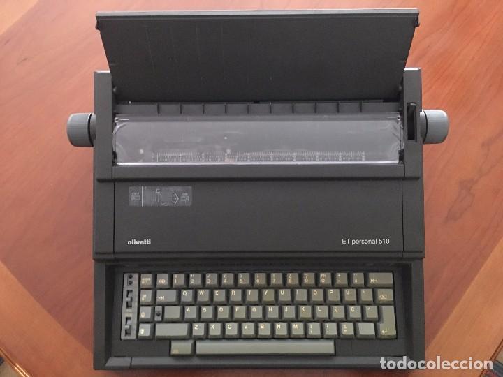 MÁQUINA DE ESCRIBIR ELÉCTRICA - OLIVETTI ET PERSONAL 510 (VER TODAS LAS IMÁGENES) (Antigüedades - Técnicas - Máquinas de Escribir Antiguas - Olivetti)