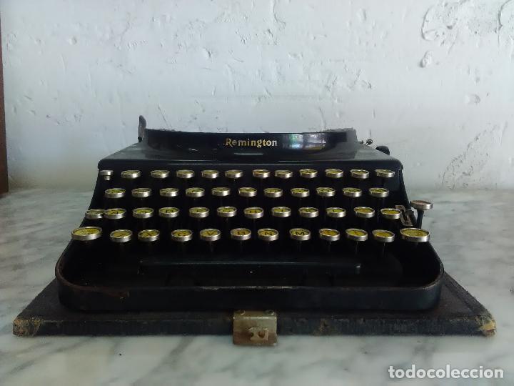 MAQUINA DE ESCRIBIR REMINGTON, FABRICADA EN USA, TECLADO EN ESPAÑOL (Antigüedades - Técnicas - Máquinas de Escribir Antiguas - Remington)