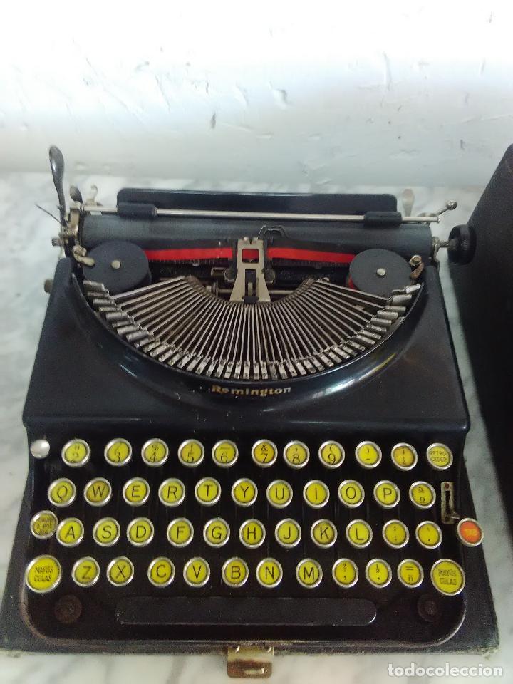 Antigüedades: Maquina de escribir Remington, fabricada en Usa, teclado en español - Foto 6 - 119090263