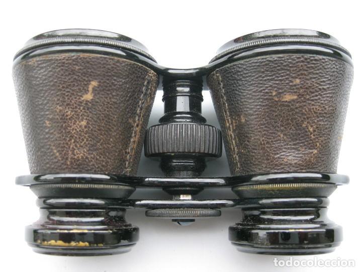 PRISMÁTICOS ÓPERA CON PIEL BINOCULARES CON FUNDA DE PIEL ORIGINALES BUEN USO (Antigüedades - Técnicas - Instrumentos Ópticos - Binoculares Antiguos)