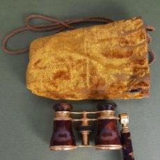 Antigüedades: BINOCULARES DE OPERA. LEMAIRE FAB. PARIS. CHAPADO EN ORO. SIGLO XIX-XX.. Lote 119093547