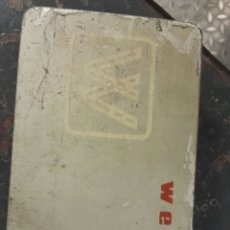 Antigüedades: CAJA DE MAQUINA DE COSER WERTHEIM CON PIEZAS. Lote 119117160