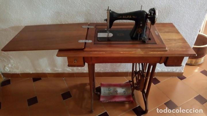 MAQUINA DE COSER (Antigüedades - Técnicas - Máquinas de Coser Antiguas - Alfa)