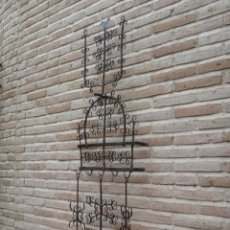 Antigüedades: ESPETERA ANTIGUA GRANDE EN HIERRO FORJADO.. Lote 119233335