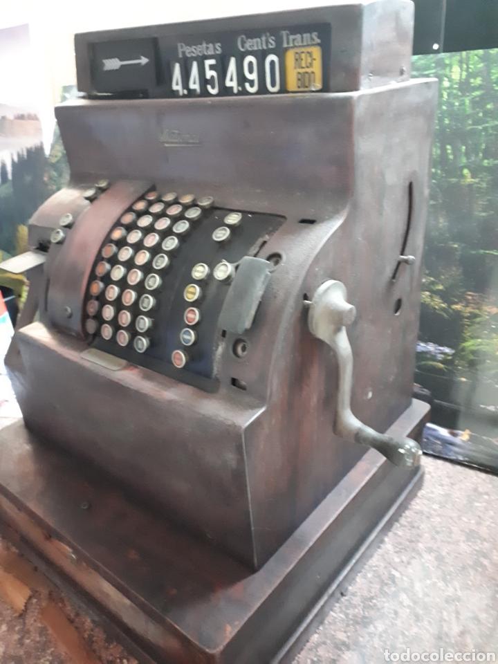 Antigüedades: Impresionante máquina registradora NATIONAL principios siglo XIX en madera y metal - Foto 4 - 119303759
