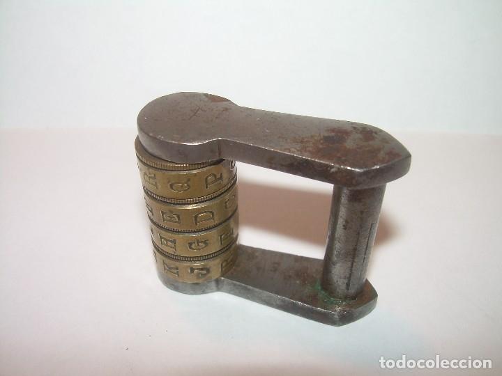 Antigüedades: CANDADO DE COMBINACION....BRONCE Y HIERRO. - Foto 2 - 119330851