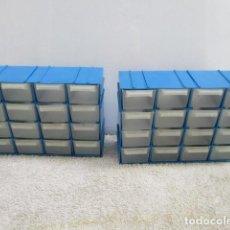 Oggetti Antichi: 2 CAJAS DE PLASTICO PARA TORNILLOS DE 32 CAJONES EN TOTAL.. Lote 119331179