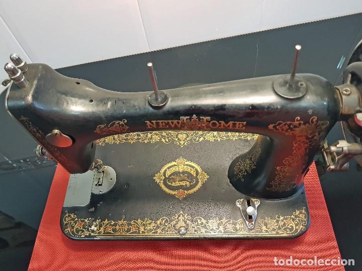 Antigüedades: ANTIGUA MAQUINA DE COSER - ROTARY NEW HOME - Foto 13 - 119352579