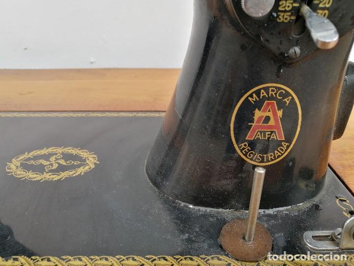 Antigüedades: Máquina de coser ALFA - Foto 7 - 119365007