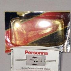 Antigüedades: HOJAS DE AFEITAR PERSONNA CON DISPENSADOR EL MODELO SÚPER PLATINUM. Lote 119371399