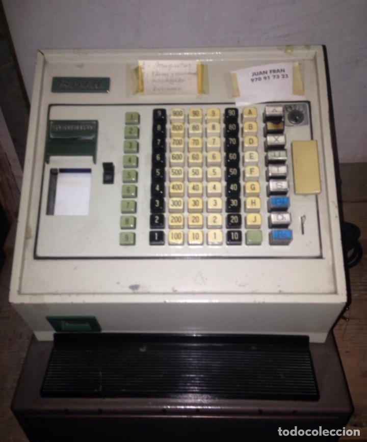 CAJA REGISTRADORA ANTIGUA (Antigüedades - Técnicas - Aparatos de Cálculo - Cajas Registradoras Antiguas)